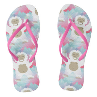 pink yeti shoes sandals flip flops
