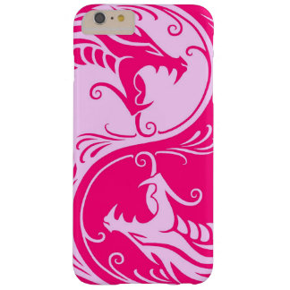 Pink Yin Yang Dragons Barely There iPhone 6 Plus Case