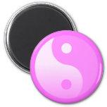 Pink Yin-Yang Symbol Fridge Magnet