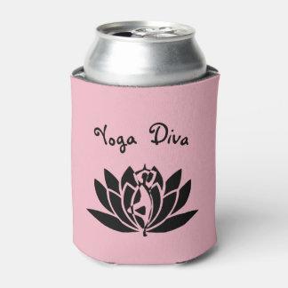 Pink Yoga Diva design Can Cooler