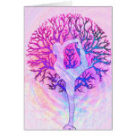 Pink Yoga Tree Woman in Pastel Colours
