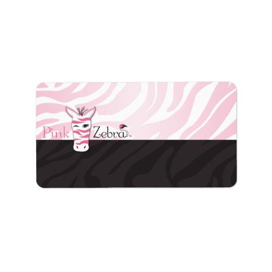 Pink Zebra Blank Address Label