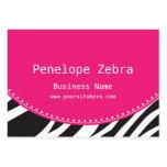 Pink Zebra Business Card