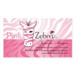 Pink Zebra Business Cards