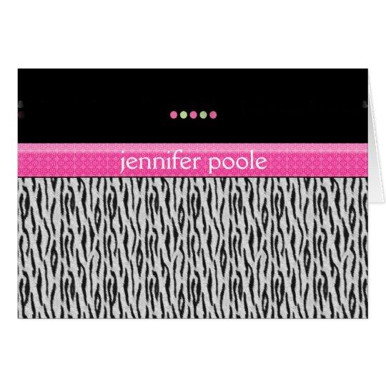 Pink Zebra Card