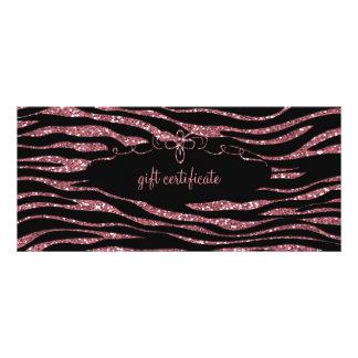 Pink Zebra Gift Certificate : Rack Card