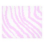Pink Zebra Print, Animal Pattern. 11.5 Cm X 14 Cm Flyer