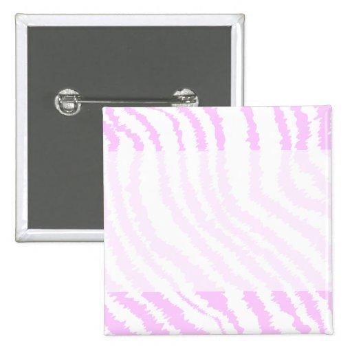 Pink Zebra Print, Animal Pattern. 15 Cm Square Badge
