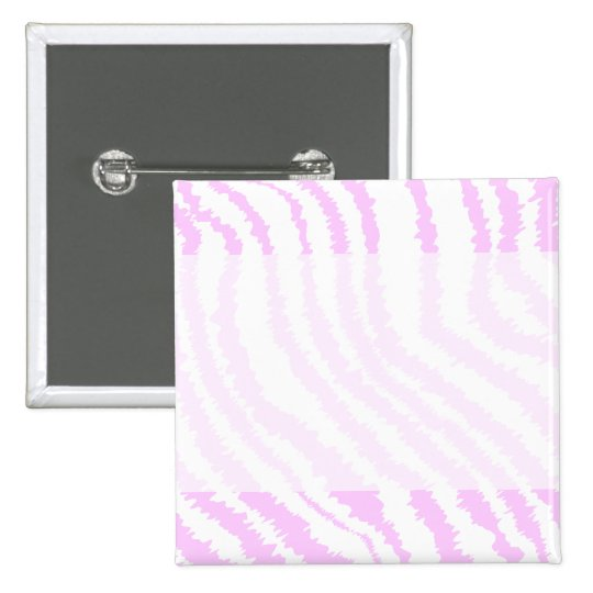 Pink Zebra Print, Animal Pattern. 15 Cm Square Badge