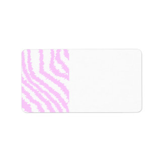 Pink Zebra Print, Animal Pattern. Address Label