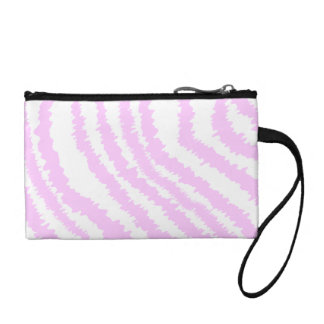 Pink Zebra Print, Animal Pattern. Coin Purse