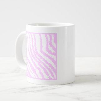 Pink Zebra Print Animal Pattern Extra Large Mug