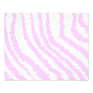 Pink Zebra Print, Animal Pattern. Flyer