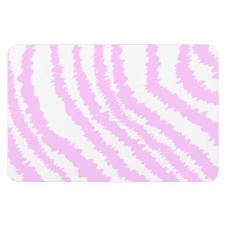 Pink Zebra Print, Animal Pattern. Magnet