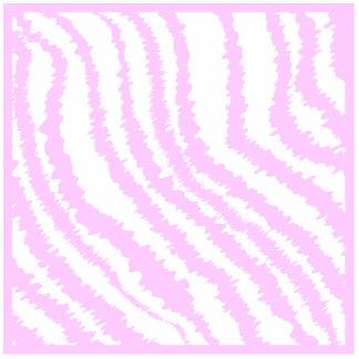 Pink Zebra Print, Animal Pattern. Photo Sculpture