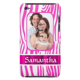 Pink zebra print iPod Case-Mate case