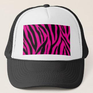 Pink zebra print design trucker hat