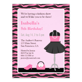 Fashion Show Party Invitations Announcements