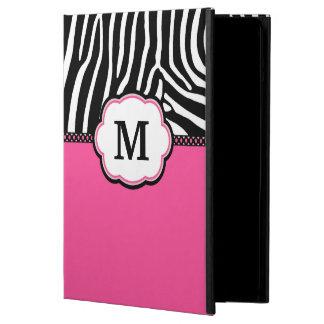 Pink Zebra Print Monogram iPad Air case