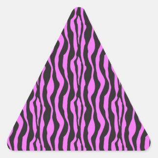 Pink Zebra Print Triangle Sticker