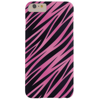 Pink Zebra Stripe Background Barely There iPhone 6 Plus Case