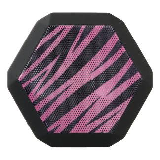 Pink Zebra Stripe Background Black Bluetooth Speaker
