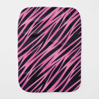 Pink Zebra Stripe Background Burp Cloth