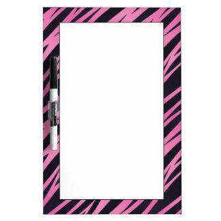 Pink Zebra Stripe Background Dry Erase Board