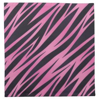 Pink Zebra Stripe Background Napkin
