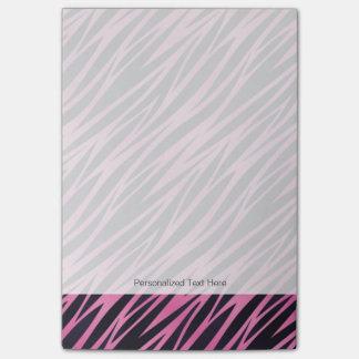 Pink Zebra Stripe Background Post-it Notes