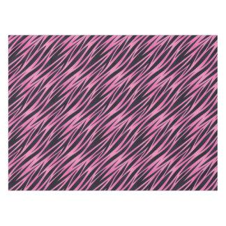 Pink Zebra Stripe Background Tablecloth