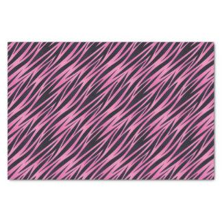 Pink Zebra Stripe Background Tissue Paper