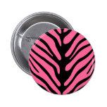 Pink Zebra Stripes Buttons