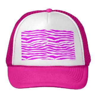 Pink Zebra Stripes Cap