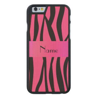 Pink zebra stripes pink stripe carved® maple iPhone 6 slim case
