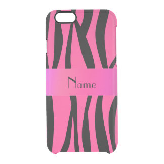 Pink zebra stripes pink stripe uncommon clearly™ deflector iPhone 6 case