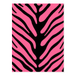 Pink Zebra Stripes Postcard