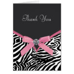 Pink Zebra Thank You Cards