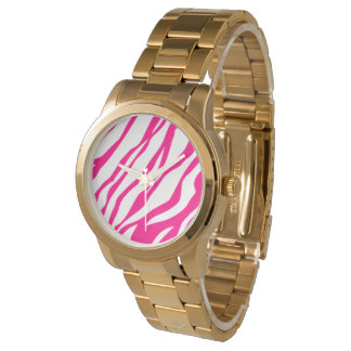 Pink zebra watch