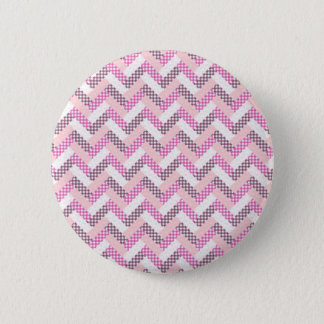 Pink Zig Zag Quilt Pattern Gifts for Her 6 Cm Round Badge