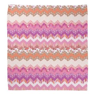 Pink zigzag background bandana