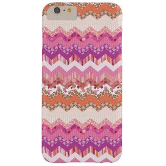 Pink zigzag background barely there iPhone 6 plus case