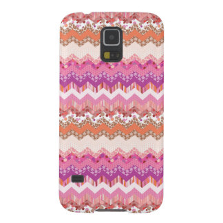 Pink zigzag background cases for galaxy s5