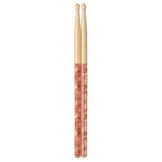 Pink zigzag background drumsticks