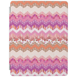 Pink zigzag background iPad cover