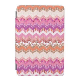 Pink zigzag background iPad mini cover