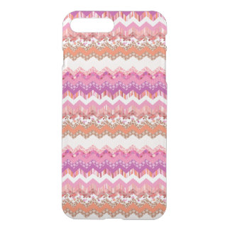 Pink zigzag background iPhone 7 plus case