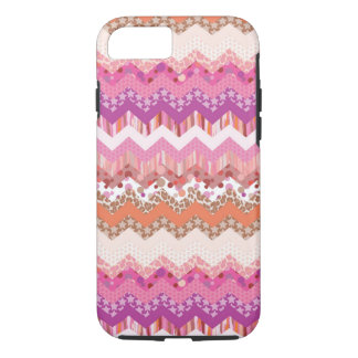 Pink zigzag background iPhone 8/7 case
