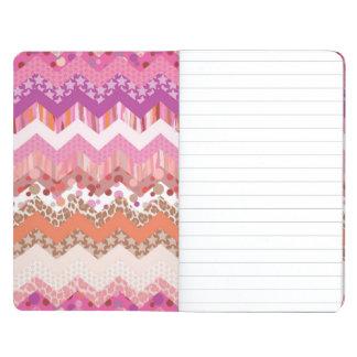 Pink zigzag background journal