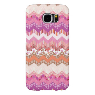 Pink zigzag background samsung galaxy s6 cases
